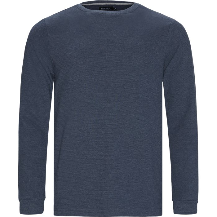 Perth LS Tee - T-shirts - Regular - Denim